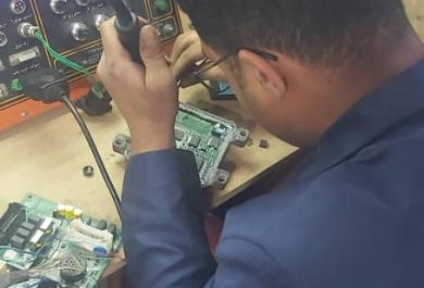 آموزش و تعمیر ای سی یو توسط مهندس مهرداد حیدری در بابل